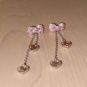 Swarovski Crystal Hello Kitty Earrings